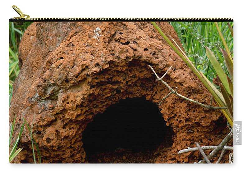 Termite Mounds Carry-all Pouch featuring the photograph Termite Mound In Brazil by Dant� Fenolio