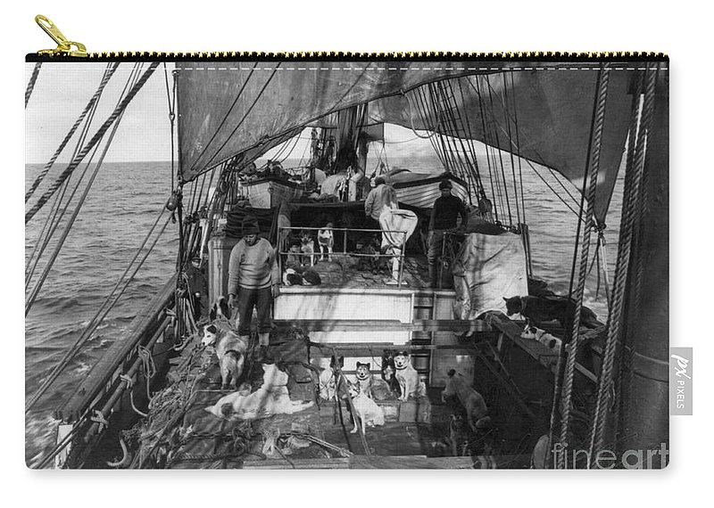 1910 Carry-all Pouch featuring the painting Terra Nova Expedition by Granger