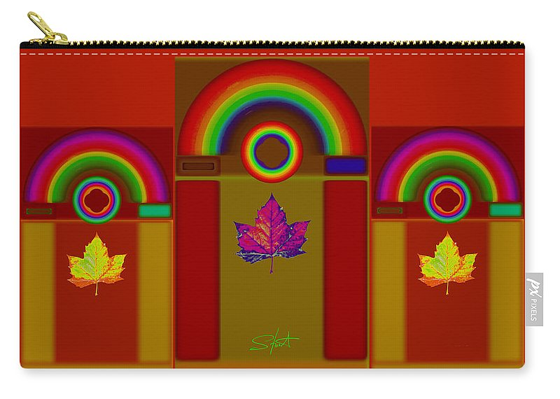 Classical Carry-all Pouch featuring the digital art Terracota Classic by Charles Stuart