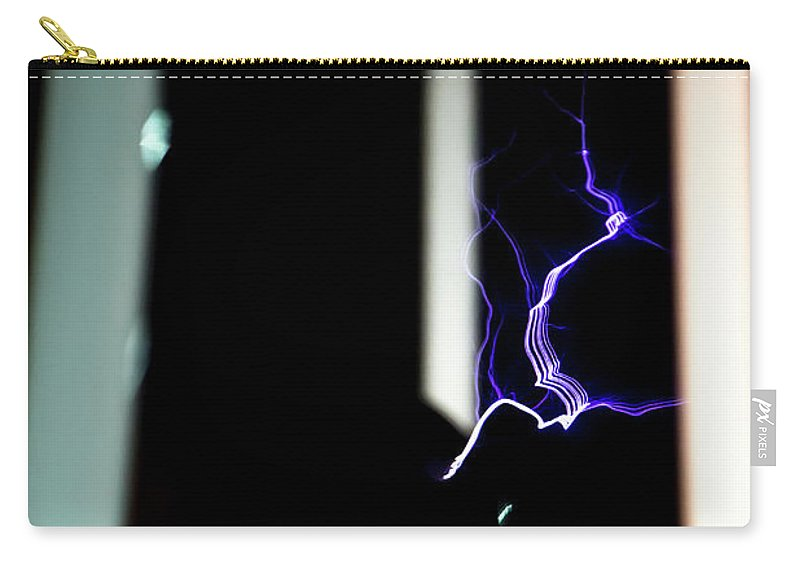 Tesla Coil Carry-all Pouch featuring the photograph Tesla Coil Energy by Tyson Kinnison