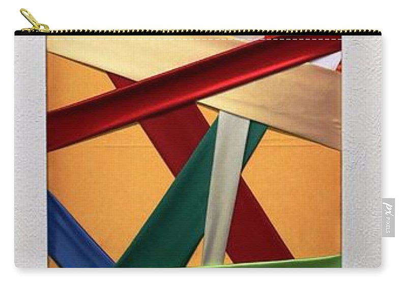 Mario Sergio Calzi Carry-all Pouch featuring the painting Tessuto Msc 01 by Mario Sergio Calzi