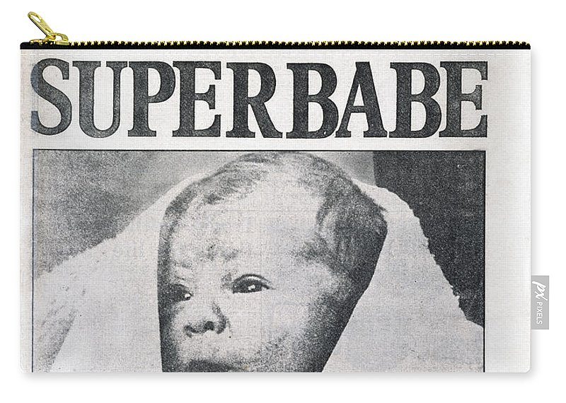 1978 Carry-all Pouch featuring the photograph Test-tube Baby, 1978 by Granger