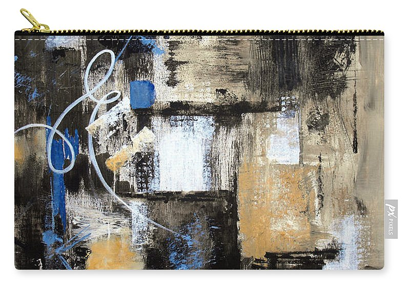 Abstract Carry-all Pouch featuring the painting Testing The Waters by Ruth Palmer