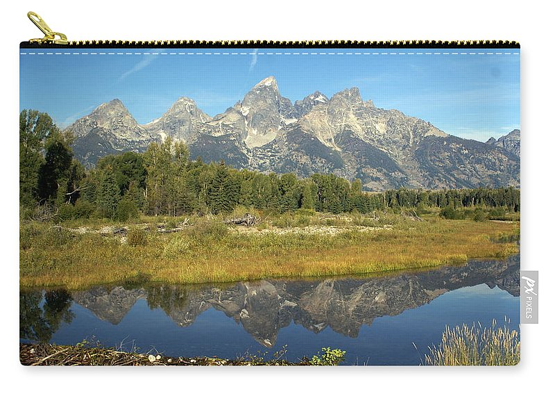 Grand Teton National Park Carry-all Pouch featuring the photograph Teton 5 by Marty Koch