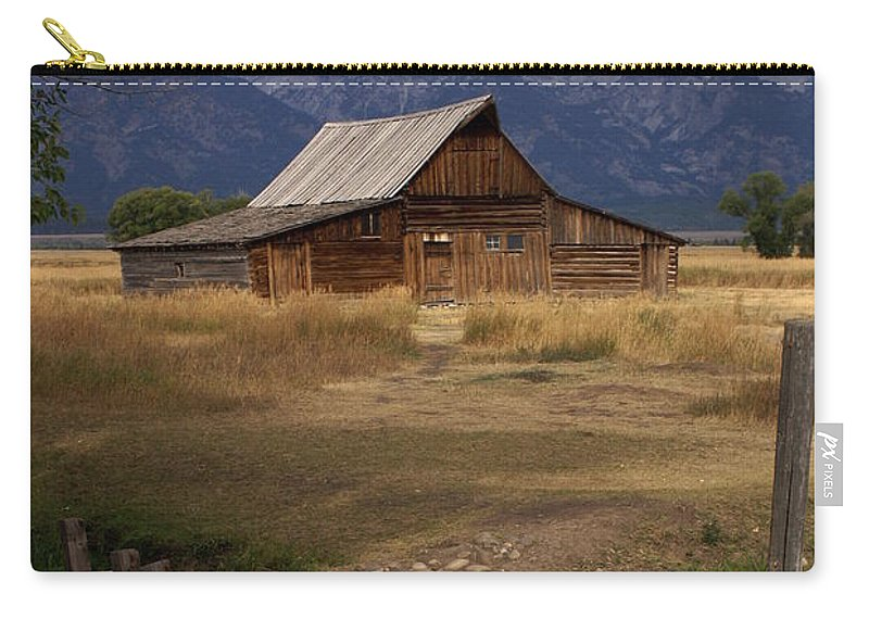 Grand Teton National Park Carry-all Pouch featuring the photograph Teton Barn 2 by Marty Koch