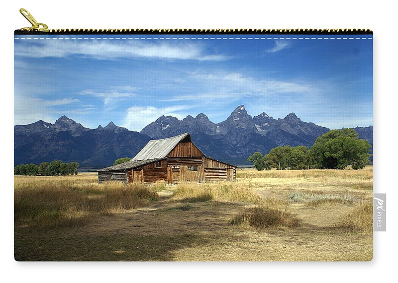 Grand Teton National Park Carry-all Pouch featuring the photograph Teton Barn 3 by Marty Koch