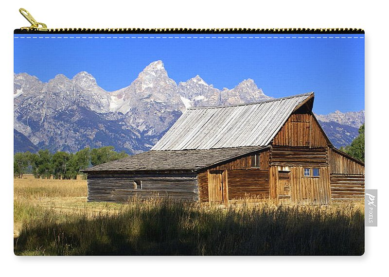 Grand Teton National Park Carry-all Pouch featuring the photograph Teton Barn 5 by Marty Koch