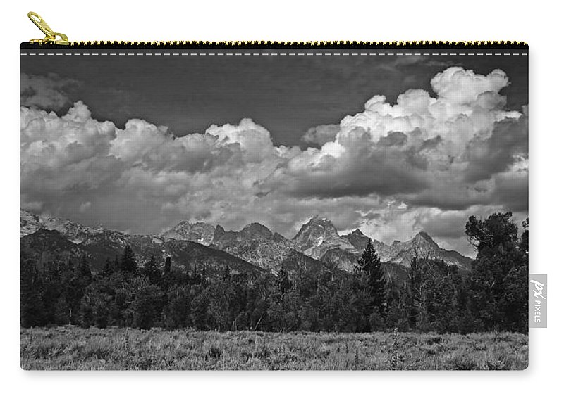 Ann Keisling Carry-all Pouch featuring the photograph Teton Mountain Range by Ann Keisling
