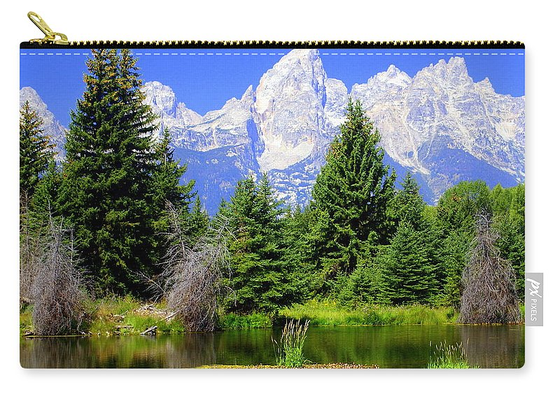 Grand Teton National Park Carry-all Pouch featuring the photograph Tetons 3 by Marty Koch