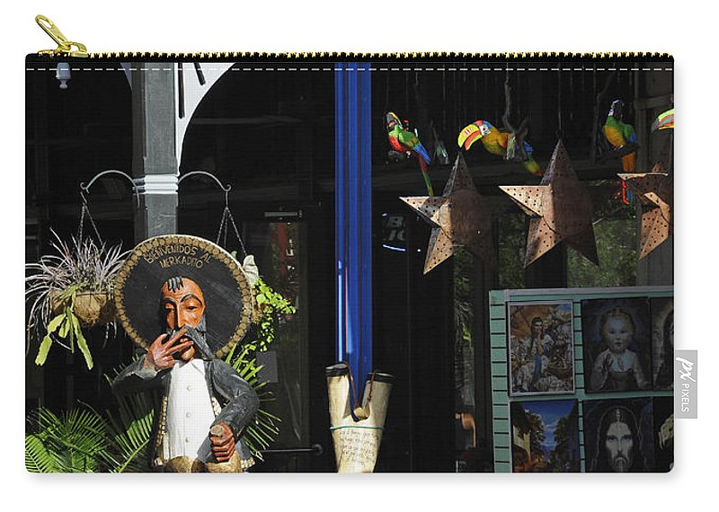 Tex-mex Carry-all Pouch featuring the photograph Tex-mex by Steven Sparks