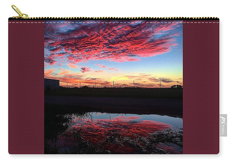 Sky Carry-all Pouch featuring the photograph Texan Sky by Hunter Martin