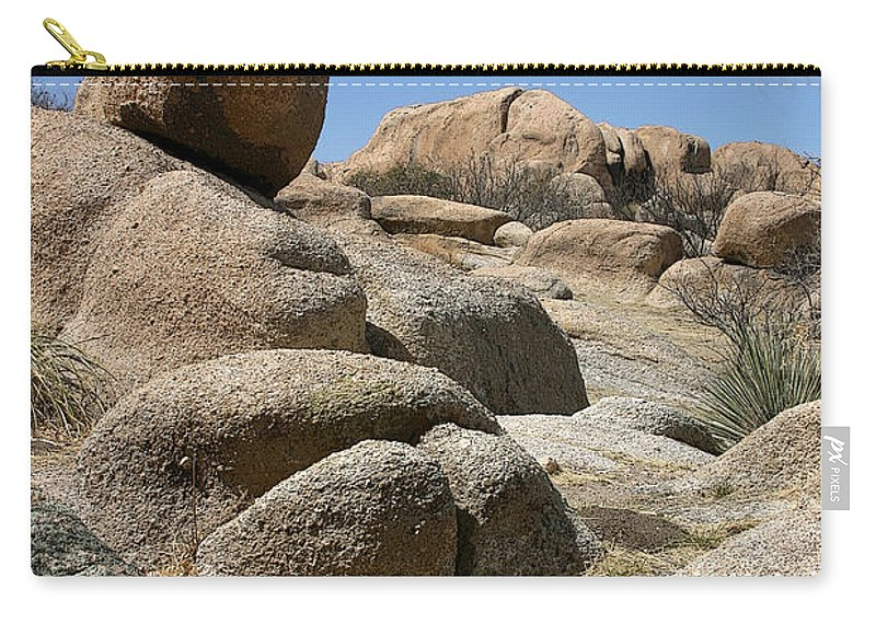 Rock Carry-all Pouch featuring the photograph Texas Canyon by Joe Kozlowski