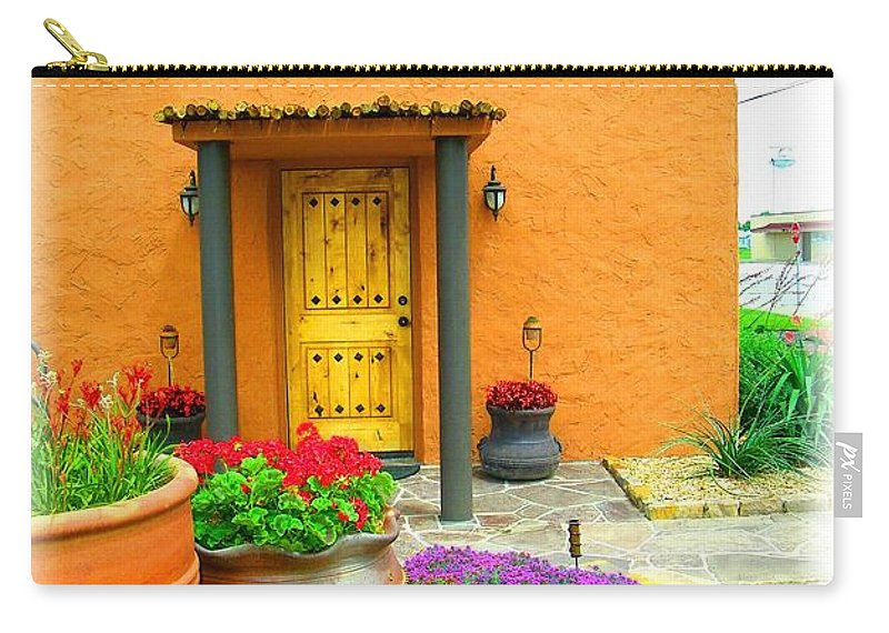 Adobe Carry-all Pouch featuring the photograph Texas Fiesta-style by Gale Cochran-Smith