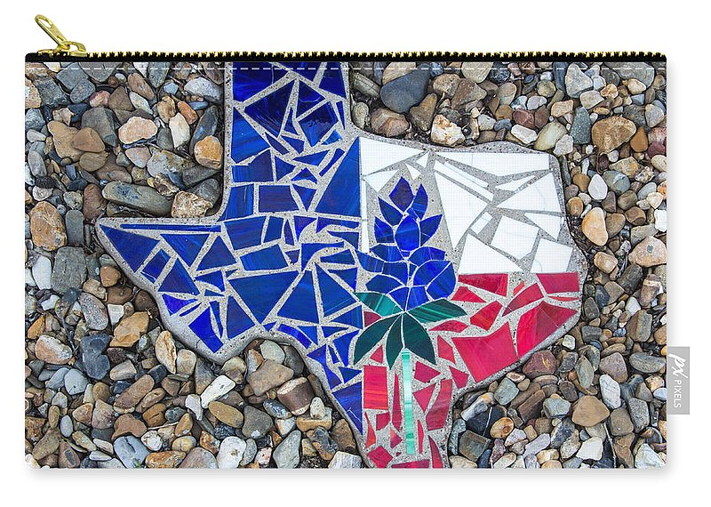 Robert Kinser Carry-all Pouch featuring the photograph Texas Garden Stone by Robert Kinser