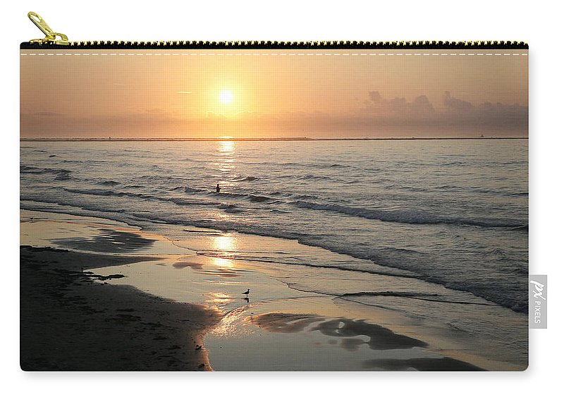 Water Carry-all Pouch featuring the photograph Texas Gulf Coast At Sunrise by Marilyn Hunt
