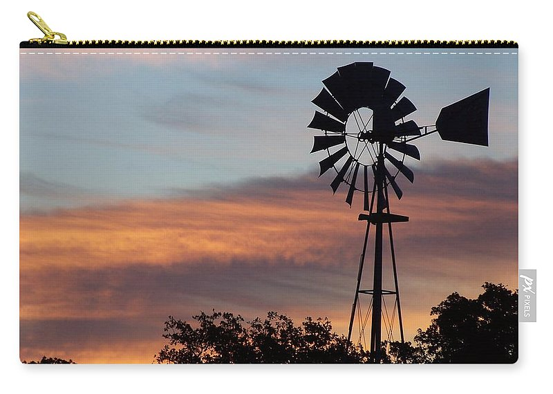 Windmill Carry-all Pouch featuring the photograph Texas Sunrise by Gale Cochran-Smith