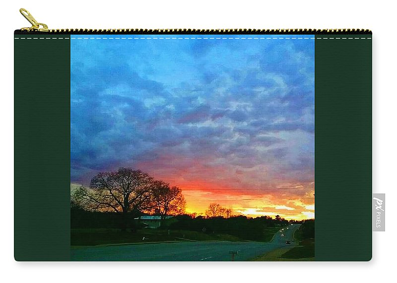 Landscape Carry-all Pouch featuring the photograph Texas Sunset by Bradley Lyle