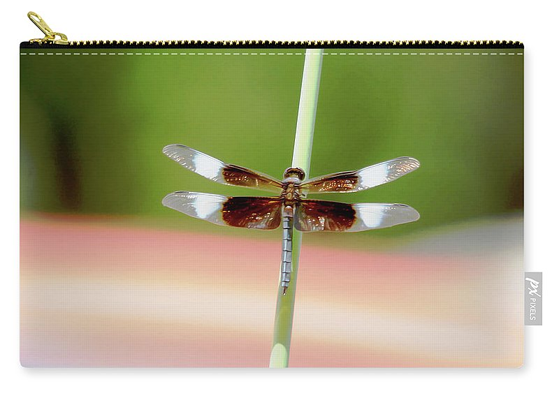 Roy Williams Carry-all Pouch featuring the photograph Texas Widow Skimmer - 10 Digitalart by Roy Williams