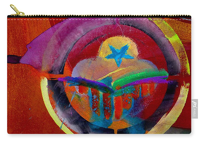 Button Carry-all Pouch featuring the painting Texicana by Charles Stuart
