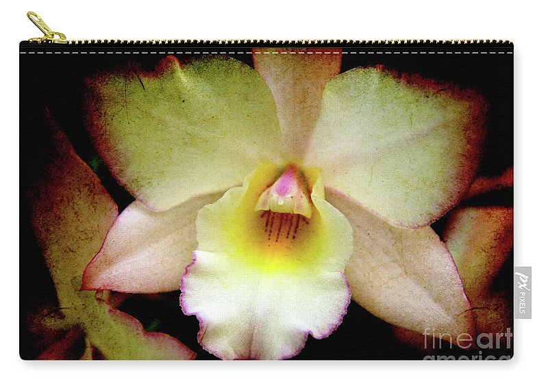 Orchids Carry-all Pouch featuring the photograph Texture Lady by Susanne Van Hulst