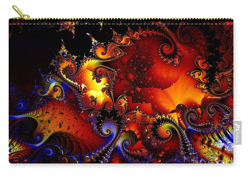 Jackolantern Carry-all Pouch featuring the digital art Texture of JackoLantern by Ron Bissett