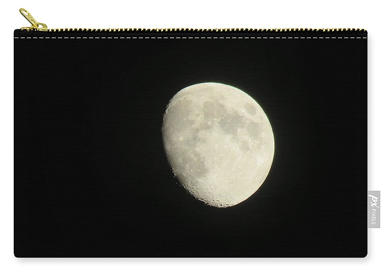 Moon Carry-all Pouch featuring the photograph Textured Moon by Brenda Dowell