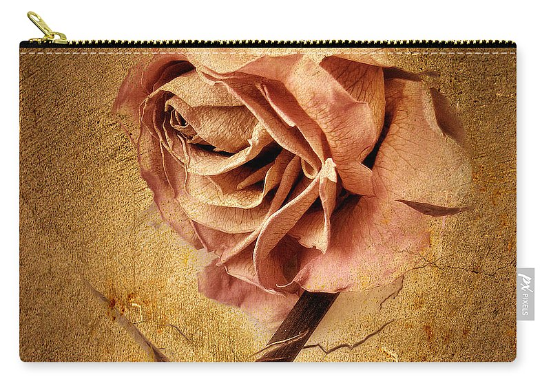 Flower Carry-all Pouch featuring the photograph Textured Rose by Jessica Jenney