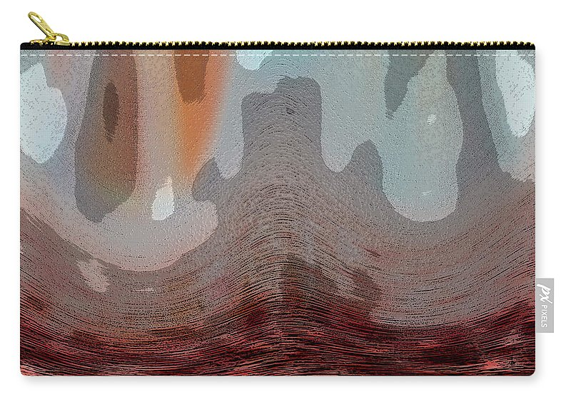 Abstracts Carry-all Pouch featuring the digital art Textured Waves by Linda Sannuti