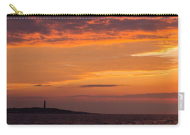 Lighthouse Carry-all Pouch featuring the photograph Thacher Island Lighthouse Panoramic by Tim Kirchoff