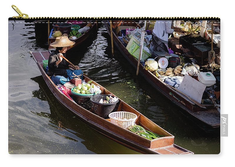 Exotic Carry-all Pouch featuring the photograph Thai Village 2 by Jijo George