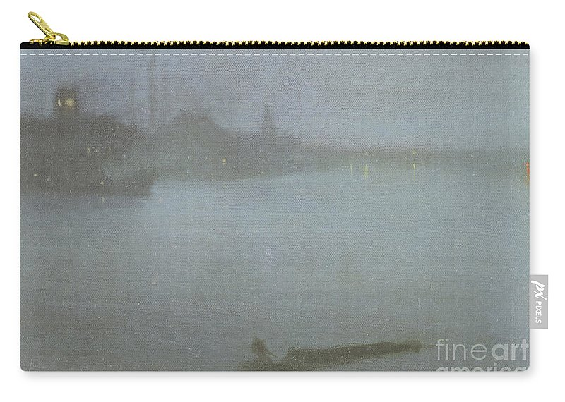 Whistler Carry-all Pouch featuring the painting Thames  Nocturne In Blue And Silver by James Abbott McNeill Whistler