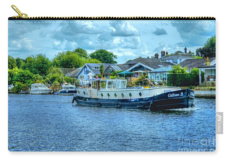 Cruising Carry-all Pouch featuring the photograph Thames Tug Boat by Lance Sheridan-Peel