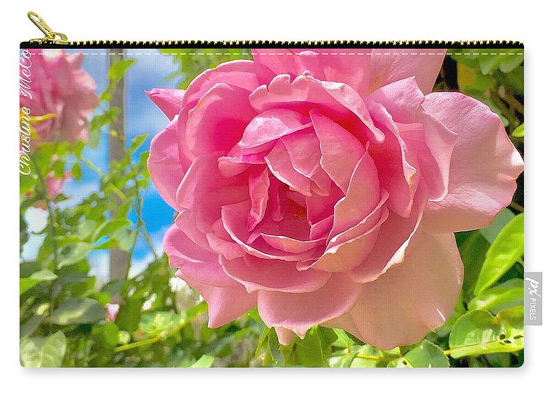 Specially Gift Card Carry-all Pouch featuring the photograph Thank You For Thinking Of Me- Rose by Christine McCole