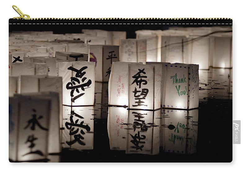 Lanters Carry-all Pouch featuring the photograph Thank You by Greg Fortier