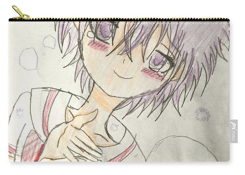 Carry-all Pouch featuring the drawing Thank You by Kate Lee
