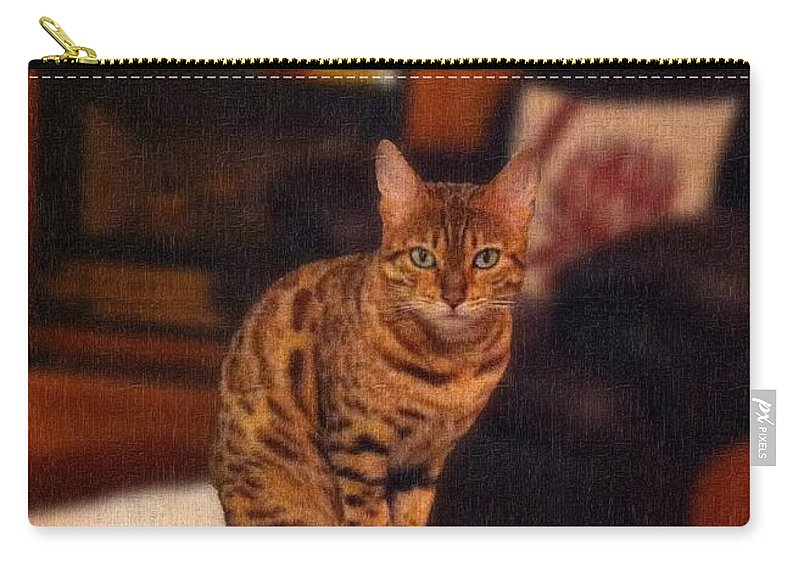 Thanks For All Your Help Carry-all Pouch featuring the photograph Thanks For All Your Help by Barbara Griffin