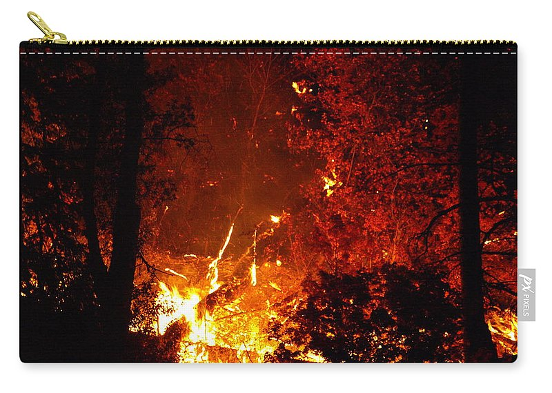 Fire Carry-all Pouch featuring the photograph That Ain't No Campfire by DeeLon Merritt