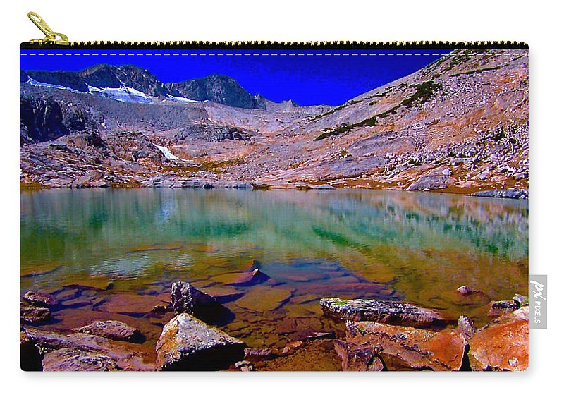 That Is The Glacier Up There Carry-all Pouch featuring the photograph That Is The Glacier Up There by Scott L Holtslander