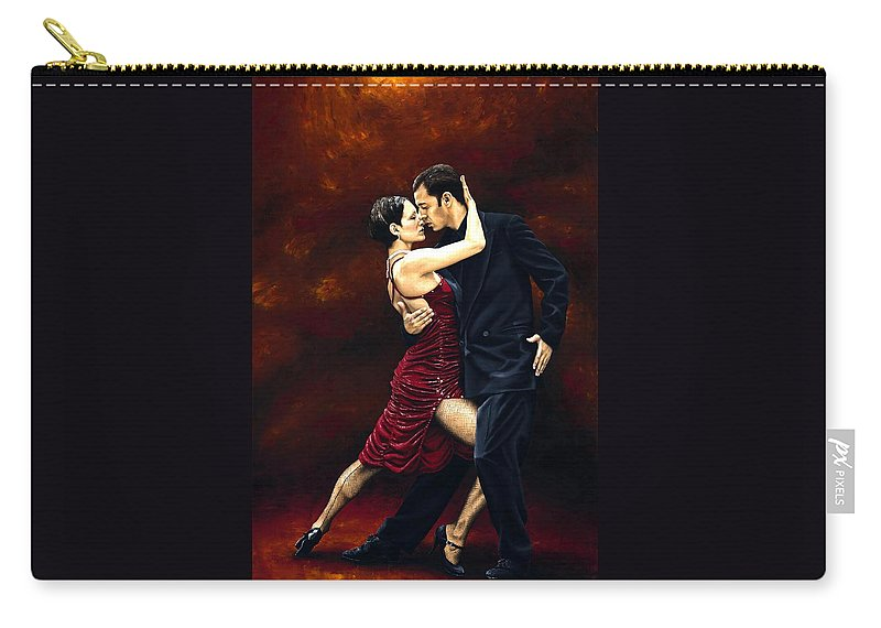 Tango Carry-all Pouch featuring the painting That Tango Moment by Richard Young