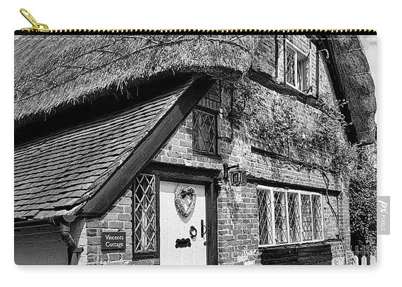 Cottage Carry-all Pouch featuring the photograph Thatched Cottages In Chawton 5 by Shirley Mitchell