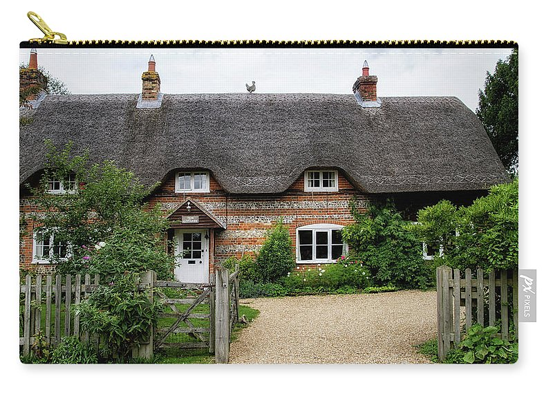 Cottage Carry-all Pouch featuring the photograph Thatched Cottages Of Hampshire 11 by Shirley Mitchell
