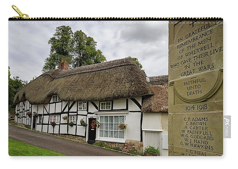 Cottage Carry-all Pouch featuring the photograph Thatched Cottages Of Hampshire 12 by Shirley Mitchell