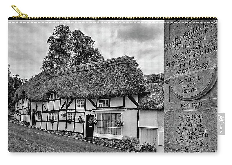 Cottage Carry-all Pouch featuring the photograph Thatched Cottages Of Hampshire 13 by Shirley Mitchell