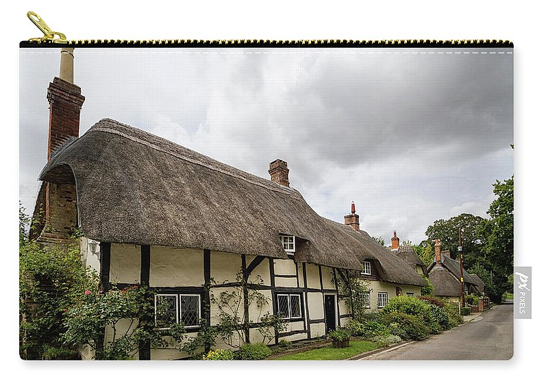Cottage Carry-all Pouch featuring the photograph Thatched Cottages Of Hampshire 14 by Shirley Mitchell