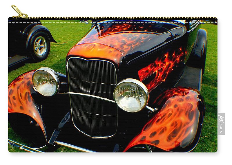 Hot Rod Carry-all Pouch featuring the photograph Thats Hot by Barbara Angle