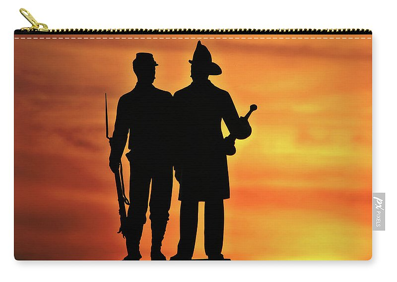 Civil War Carry-all Pouch featuring the photograph The 73rd New York by Jen Goellnitz