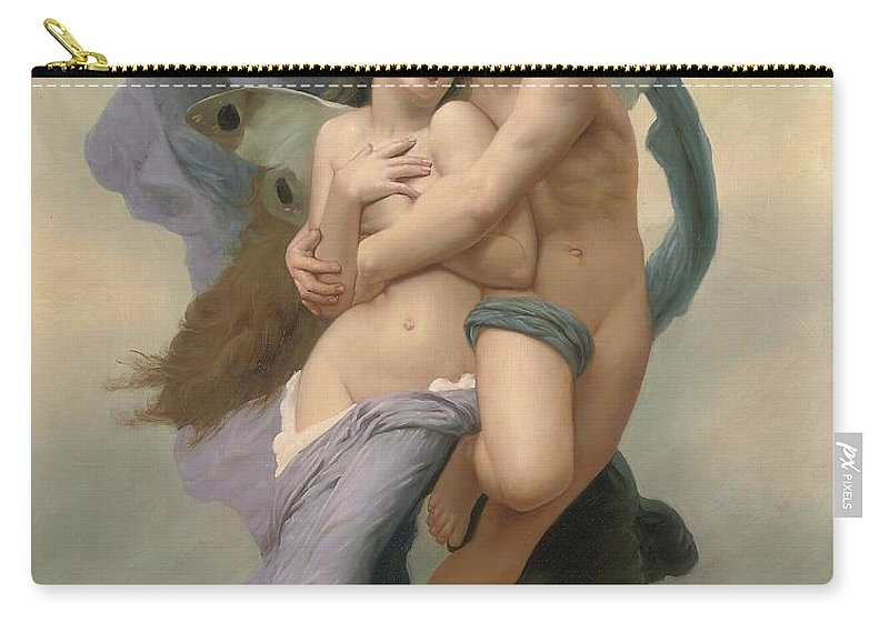 William-adolphe Bouguereau Carry-all Pouch featuring the painting The Abduction Of Psyche by William-Adolphe Bouguereau