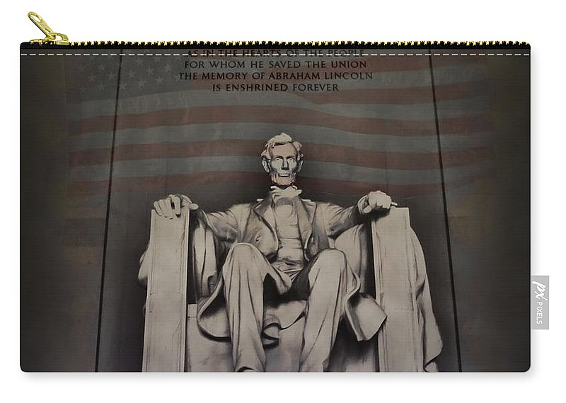 Abraham Lincoln Carry-all Pouch featuring the photograph The Abraham Lincoln Memorial by Bill Cannon