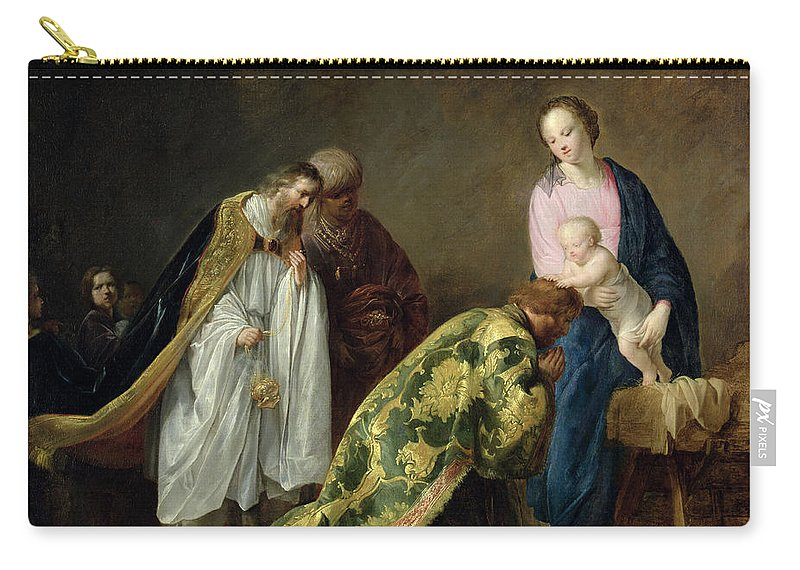 The Carry-all Pouch featuring the painting The Adoration Of The Magi by Pieter Fransz de Grebber