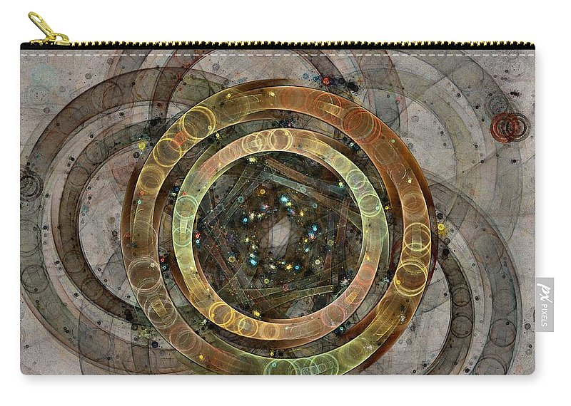 Circles Carry-all Pouch featuring the digital art The Almagest - Homage To Ptolemy - Fractal Art by NirvanaBlues